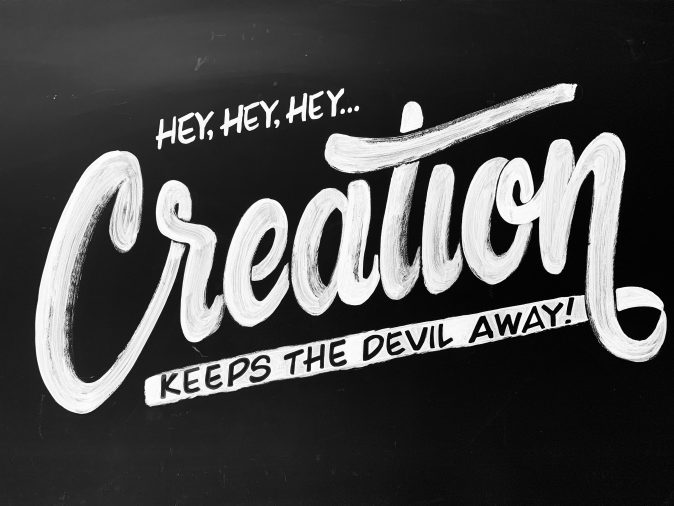 creation keep the devil away